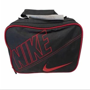 NWT Nike Insulated Lunch Bag Box Black Red Kids